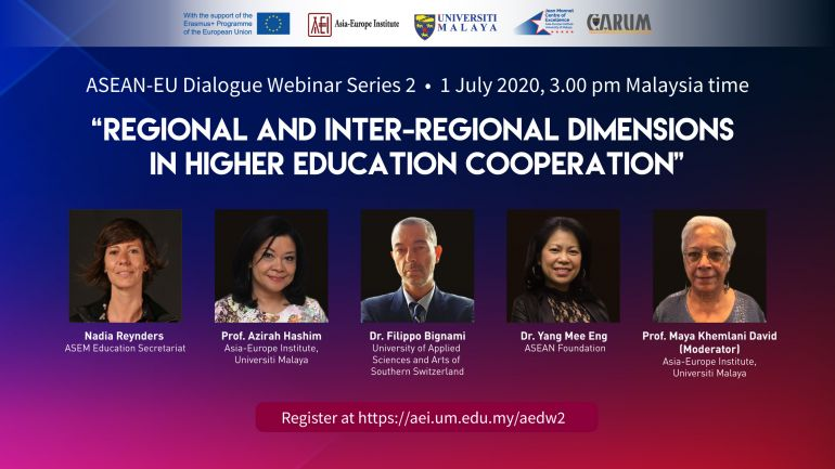 Webinar: Regional and Inter-Regional Dimensions in Higher Education Cooperation