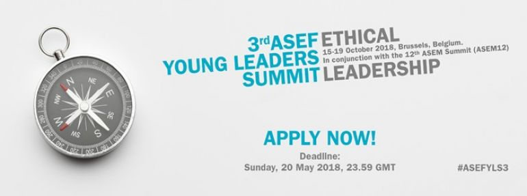 Open Call: 3rd ASEF Young Leaders Summit