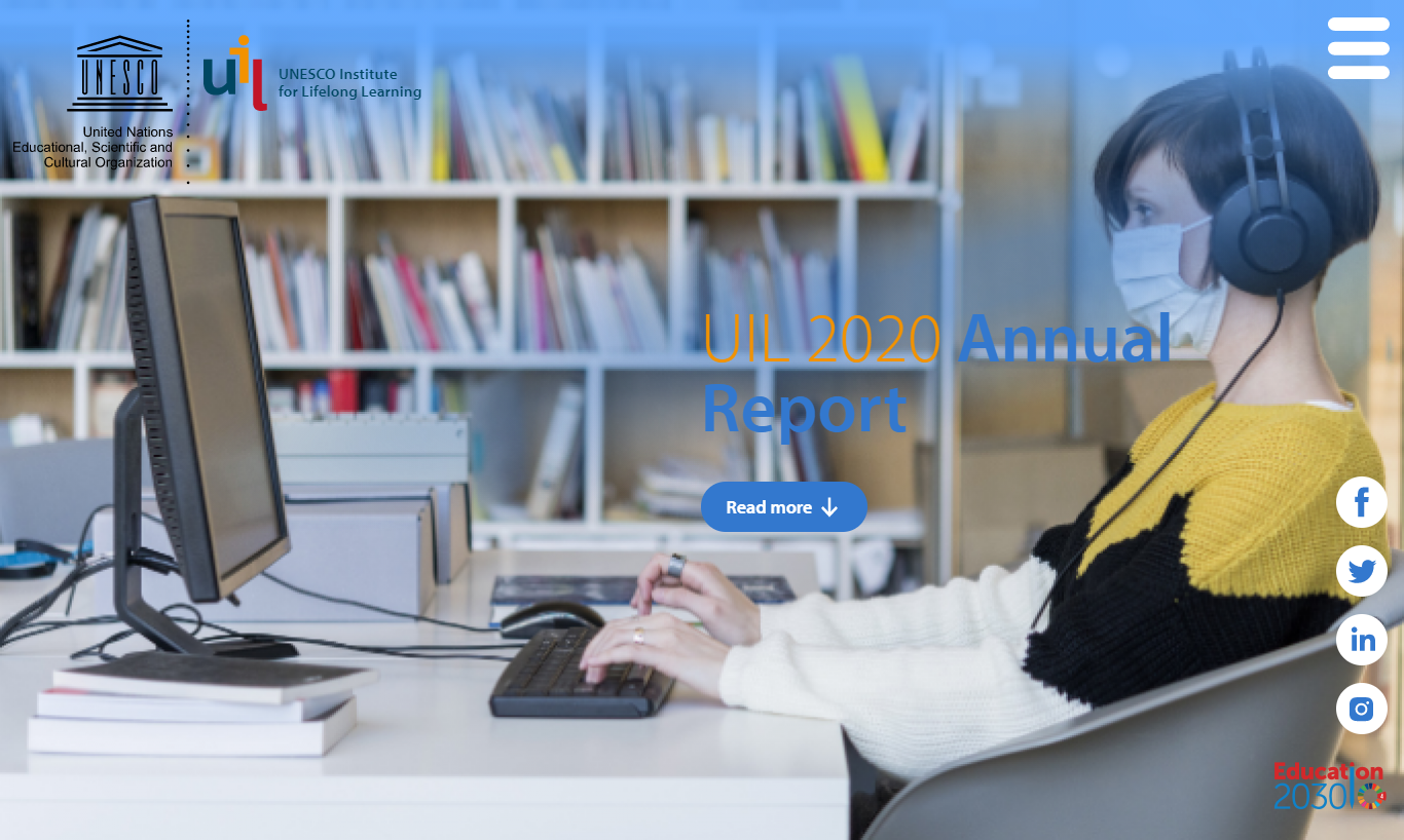 UNESCO Institute for Lifelong Learning's Annual Report 2020 published